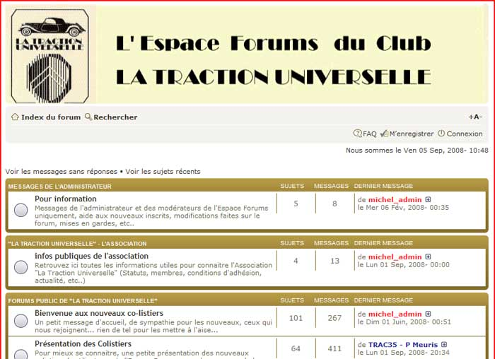 Forum Traction Universelle